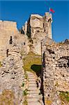 The Ruins of a Medieval Fortress in the French City