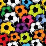 Vector seamless soccer texture. Football wallpaper. Sport background. Stock Photo - Royalty-Free, Artist: svetap                        , Code: 400-06074474
