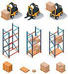 Set of detailed isometric warehouse related icons Stock Photo - Royalty-Free, Artist: tele52                        , Code: 400-06075559