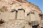 Granaries in a Dogon village, Mali (Africa).  The Dogon are best known for their mythology, their mask dances, wooden sculpture and their architecture. Stock Photo - Royalty-Free, Artist: michelealfieri                , Code: 400-06076338