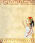 Wall with Egyptian goddess image - Isis Stock Photo - Royalty-Free, Artist: frenta                        , Code: 400-06076394