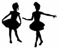 Small ballerinas Stock Photo - Royalty-Freenull, Code: 400-06076513