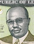 William Tolbert Jr. (1913-1980) on 100 Dollars 2009 Banknote from Liberia. 20th President of Liberia during 1971-1980. Stock Photo - Royalty-Free, Artist: Georgios                      , Code: 400-06076763