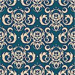 Vector dark blue background for textile design. Stock Photo - Royalty-Free, Artist: Irinavk                       , Code: 400-06077129