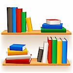 Two bookshelves with colored books. Stock Photo - Royalty-Free, Artist: timurock                      , Code: 400-06078572