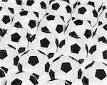 many soccer footballs be in a series Stock Photo - Royalty-Free, Artist: dak                           , Code: 400-06078983