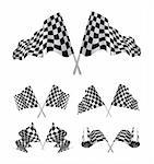 Checkered Flags set illustration on white background. Stock Photo - Royalty-Free, Artist: sermax55                      , Code: 400-06079813