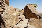 The Bandiagara Escarpment is an escarpment in the Dogon country of Mali.  The Dogon are best known for their mythology, their mask dances, wooden sculpture and their architecture. Stock Photo - Royalty-Free, Artist: michelealfieri                , Code: 400-06079844