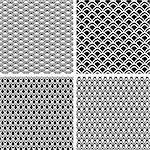 Seamless patterns set with fish scale texture. Vector art. Stock Photo - Royalty-Free, Artist: troyka                        , Code: 400-06079944
