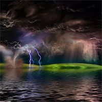 rolffimages (artist) - Flooded stormy landscape Stock Photo - Royalty-Freenull, Code: 400-06081149