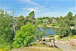 Kotka, Finland. City top-view from the rock in the park Sapokka Stock Photo - Royalty-Free, Artist: TatyanaSavvateeva             , Code: 400-06081189