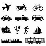 Icons for various means of transportation Stock Photo - Royalty-Free, Artist: soleilc                       , Code: 400-06081206