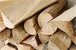 Heap of dried stacked hornbeam firewood close up Stock Photo - Royalty-Free, Artist: qiiip                         , Code: 400-06081372
