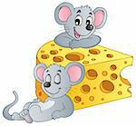 Mouse theme image 2 - vector illustration. Stock Photo - Royalty-Free, Artist: clairev                       , Code: 400-06081455