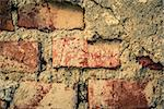 toned red brick wall grunge background or texture Stock Photo - Royalty-Free, Artist: artush                        , Code: 400-06081789