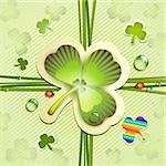 St. Patrick's Day card with clover Stock Photo - Royalty-Free, Artist: Merlinul                      , Code: 400-06082400