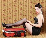 Sexy Pinup Style Vintage Image Stock Photo - Royalty-Free, Artist: tobkatina                     , Code: 400-06082813
