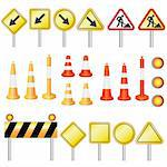 Set of equipment for road work on the white background. Also available as a Vector in Adobe illustrator EPS 8 format, compressed in a zip file. Stock Photo - Royalty-Free, Artist: Neokryuger                    , Code: 400-06082959