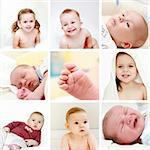 Collage of different photos of babies and kids Stock Photo - Royalty-Free, Artist: Brebca, Code: 400-06082983