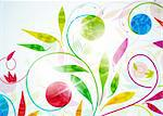 floral background, vector abstract background Stock Photo - Royalty-Free, Artist: Sergio77                      , Code: 400-06083187
