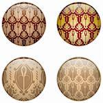 Vector - Glass Circle Button Basque Textures Stock Photo - Royalty-Free, Artist: gubh83                        , Code: 400-06083347