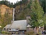 Historic Multnomah Falls Lodge in Columbia River Gorge Oregon Stock Photo - Royalty-Free, Artist: jpldesigns, Code: 400-06083372