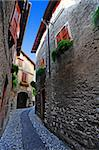 Narrow Alley With Old Buildings In The Chianti Region Stock Photo - Royalty-Free, Artist: gkuna                         , Code: 400-06083496