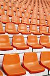 the repeat of football stadium Seats Stock Photo - Royalty-Free, Artist: microolga                     , Code: 400-06084420