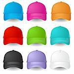 Set of Baseball caps. Illustration on white background Stock Photo - Royalty-Free, Artist: dvarg                         , Code: 400-06084673