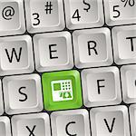 Computer keyboard with a key with a ATM Stock Photo - Royalty-Free, Artist: TAlex                         , Code: 400-06084855