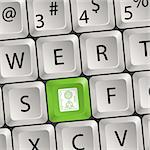 Computer keyboard with a key with a Safe, vector illustration Stock Photo - Royalty-Free, Artist: TAlex                         , Code: 400-06084857