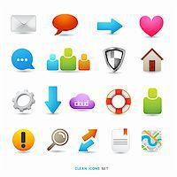 A Collection of Icons and Symbols, vector designs. Stock Photo - Royalty-Freenull, Code: 400-06085157