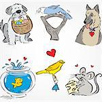 Drawn Pets Set