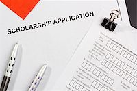education loan - Directly above photograph of a scholarship application. Stock Photo - Royalty-Freenull, Code: 400-06086282