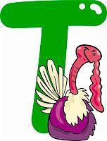 cartoon illustration of T letter for turkey Stock Photo - Royalty-Freenull, Code: 400-06086689