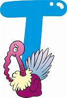 cartoon illustration of T letter for turkey Stock Photo - Royalty-Freenull, Code: 400-06086690