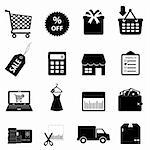 Shopping and ecommerce icon set Stock Photo - Royalty-Free, Artist: soleilc                       , Code: 400-06087251