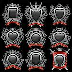 Coat of arms set. Vector illustration. Stock Photo - Royalty-Free, Artist: CelloFun                      , Code: 400-06087355