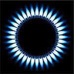 Blue Gas Flame. Illustration on black background Stock Photo - Royalty-Free, Artist: dvarg                         , Code: 400-06089177
