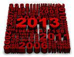 2013 new year modeled with tridimensional numbers Stock Photo - Royalty-Free, Artist: marphotography                , Code: 400-06090337