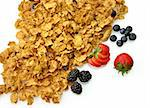 bran and raisin cereal with fruits and berries    Stock Photo - Royalty-Free, Artist: svetlanna                     , Code: 400-06090587