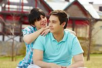 Sweet homosexual couple enjoying closeness Stock Photo - Royalty-Freenull, Code: 400-06091664