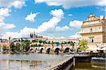 Lavka and Hradcany with Charles bridge, Prague, Czech Republic