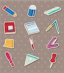 stationery stickers Stock Photo - Royalty-Free, Artist: notkoo2008                    , Code: 400-06092724