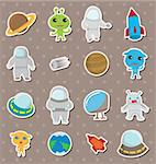 space stickers Stock Photo - Royalty-Free, Artist: notkoo2008                    , Code: 400-06092734