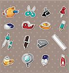 doodle stationery stickers Stock Photo - Royalty-Free, Artist: notkoo2008                    , Code: 400-06093065