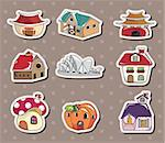 house stickers Stock Photo - Royalty-Free, Artist: notkoo2008                    , Code: 400-06093066