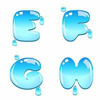 fancy letters - A set of water bead font type, letter E to H Stock Photo - Royalty-Freenull, Code: 400-06093213