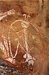 Aboriginal rock art at Nourlangie, Kakadu National Park, Northern Territory, Australia  Stock Photo - Royalty-Free, Artist: EcoShow                       , Code: 400-06093333