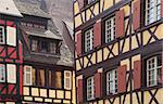 Detail image of two typical Alsatian houses in Colmar,located in Alsace in north-eastern France. Stock Photo - Royalty-Free, Artist: RazvanPhotography             , Code: 400-06093364